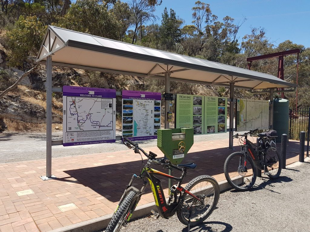 Lavender Cycling Trail (M2C) - Clare to Waterloo - start of the trail at Clare Railway Station