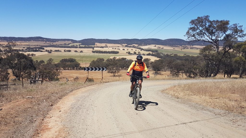 Lavender Cycling Trail (M2C) Waterloo to Eudunda - Ted on Quinns Gap Road