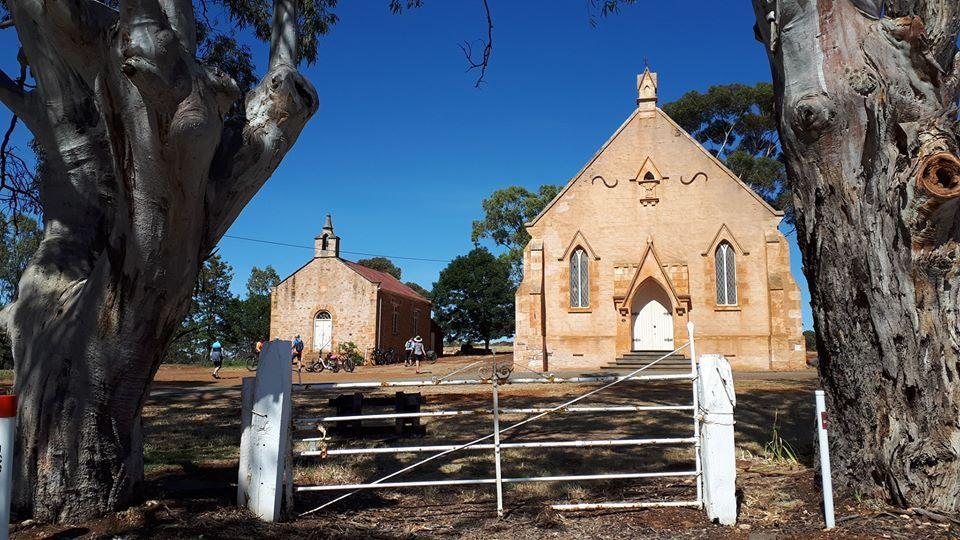 Lavender Cycling Trail (M2C) - Wesleyan Methodist Chapel & Church in Mintaro – photo by Kay Haarsma