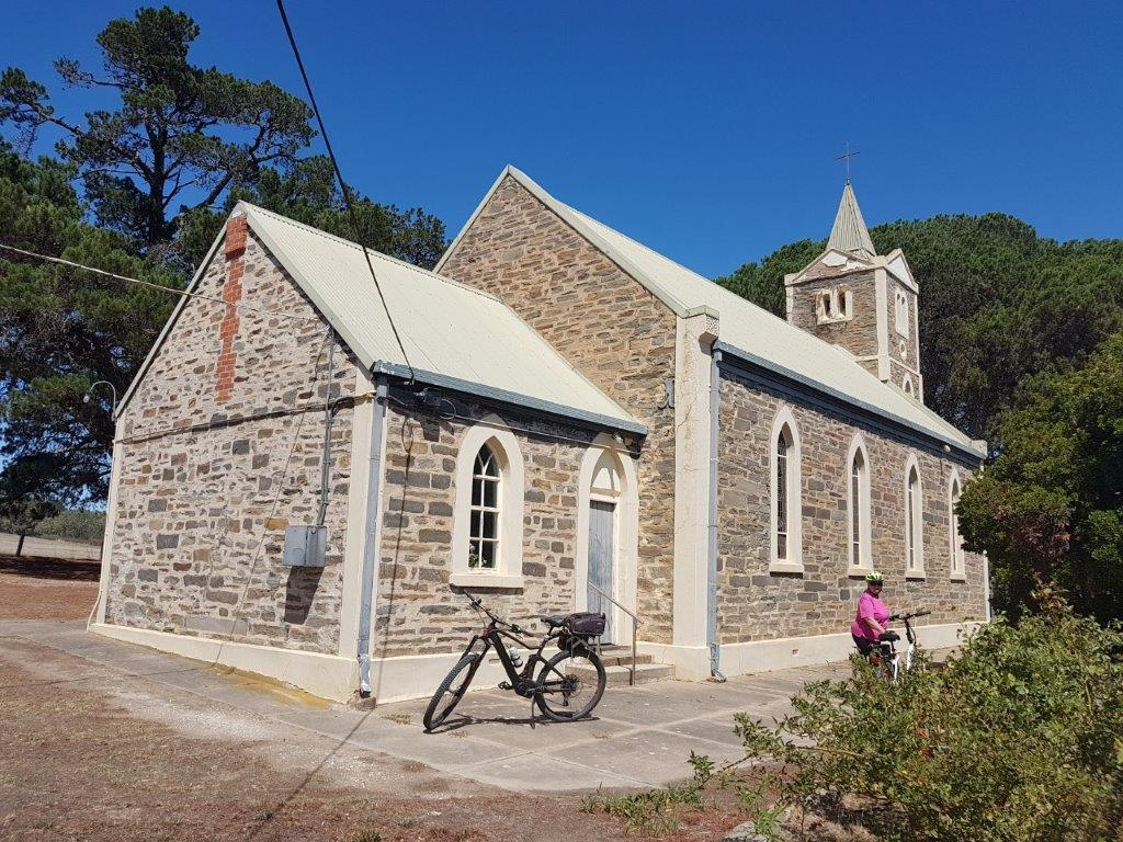 Lavender Cycling Trail (M2C) - Eden Valley to Mount Pleasant - Springton Lutheran Church