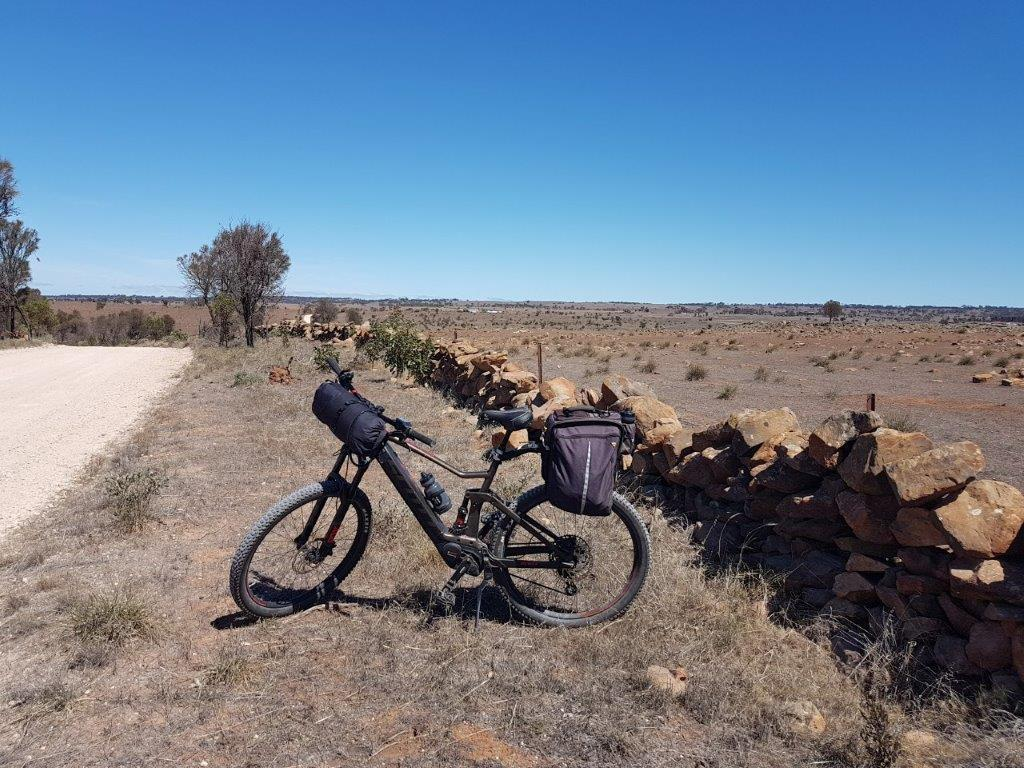 Lavender Cycling Trail (M2C) - Mount Pleasant to Murray Bridge - Historic stone fence on Panican Hill Road