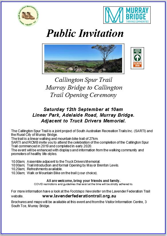 Callington to Murray Bridge Spur Trail - Official Opening Poster