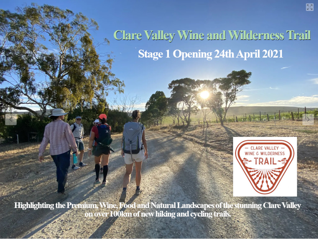 Clare Valley Wine and Wilderness Trail - Stage 1 Opening 24th April 2021