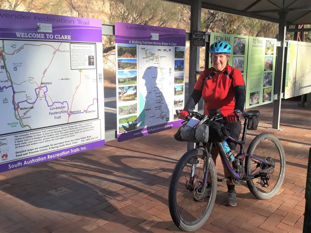 Kay Haarsma arrives in Clare to be the first Woman to complete the Lavender Cycling Trail End to End - South to North
