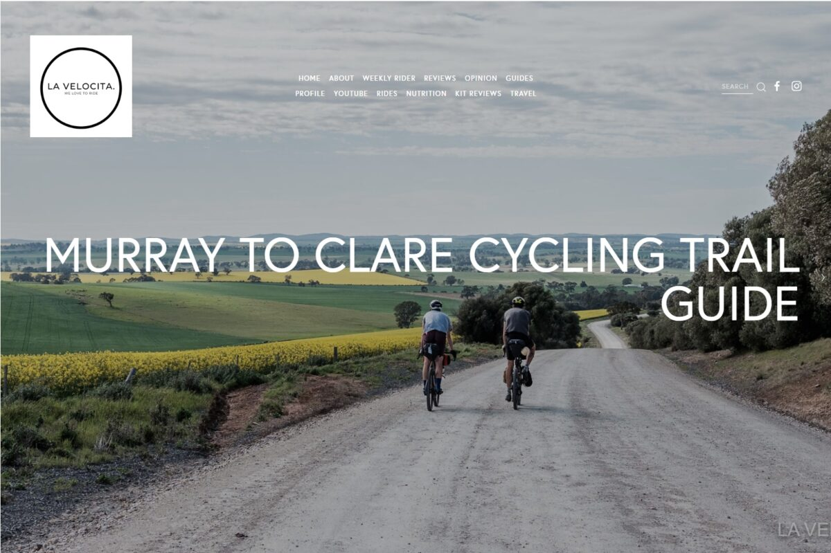 La Velocita - Murray To Clare Cycling Trail Guide (Blog Post Cover)
