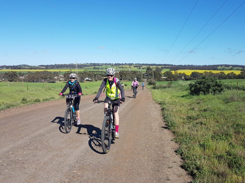 Lavender Cycling Trail (M2C) - Waterloo to Eudunda - Quinns Gap Road with Waterloo in background